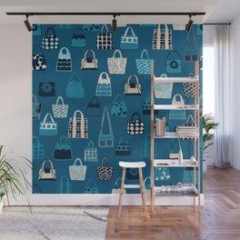 Handbag Blues Heaven Wall Mural