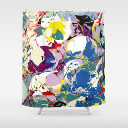 circle color fractures Shower Curtain