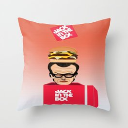 "Jack ""In the box"" Throw Pillow"