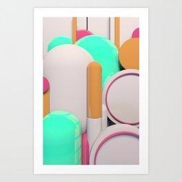 Capsules Art Print