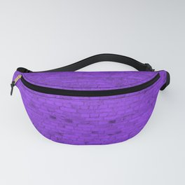 Bright Neon Purple Brick Wall Fanny Pack