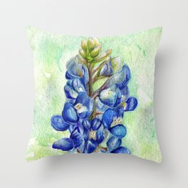 Texas Bluebonnets Throw Pillow