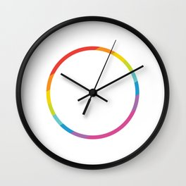 Pride: Rainbow Geometric Circle Wall Clock
