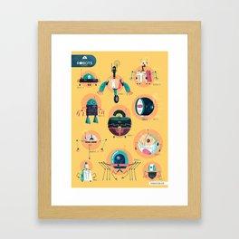 :::Mini Robots::: Framed Art Print