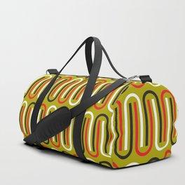 Geometric Pattern 110 (mustard red) Duffle Bag