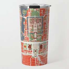 Beijing city map classic Travel Mug