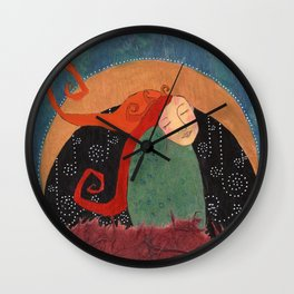 Waxing Wall Clock