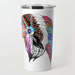 Native American woman,Indian American design Travel Mug