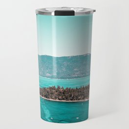 Even in the summer this lake looks like a frozen glass. Travel Mug