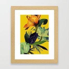 In the yellow light. Framed Art Print