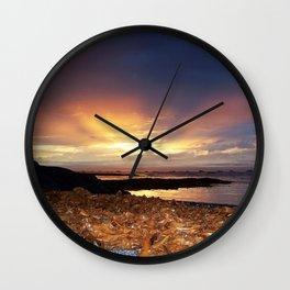 Seaweed Sunset Wall Clock