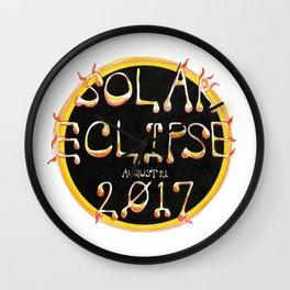 Solar Eclipse Flare Wall Clock