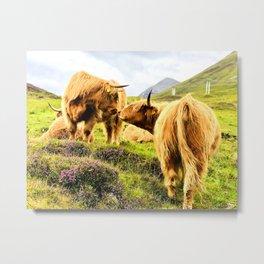 Cattle Kiss Metal Print