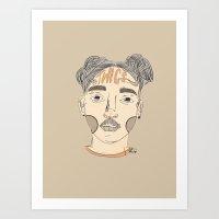 fka twigs Art Prints featuring FKA Twigs by Kai Jen.