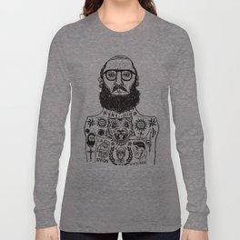 INK AND BEARD RULES Long Sleeve T-shirt