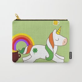 St. Patrick's Day Unicorn Carry-All Pouch