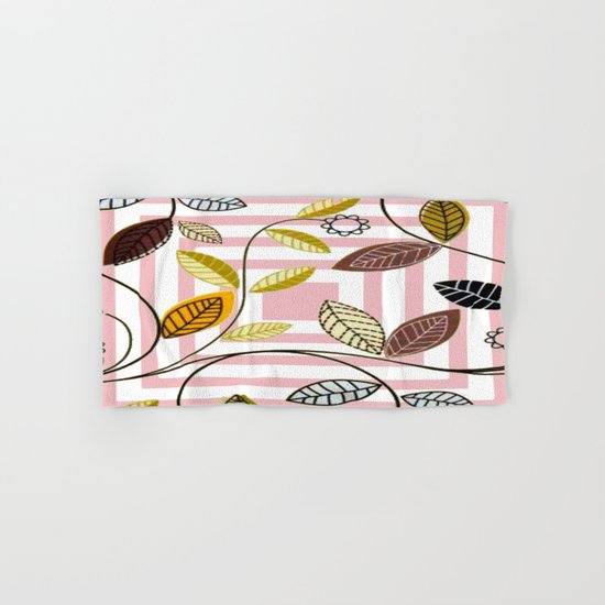 Rose Quartz, Clouds and Plants Hand & Bath Towel