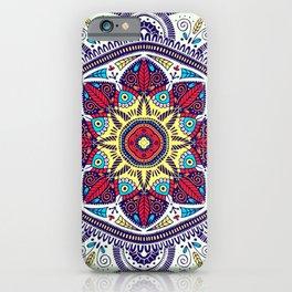 Bohemian Boho Chic Hippie Purple Blue Red Mandala Design iPhone Case