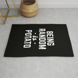 Being Random Funny Quote Rug