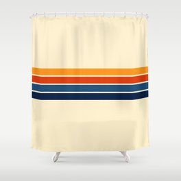 Classic Retro Stripes Shower Curtain