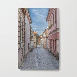 European Alley Metal Print