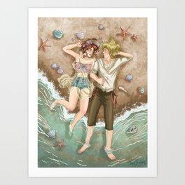 Among seashells Art Print