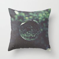 globe Throw Pillows featuring Snow Globe by Jane Lacey Smith