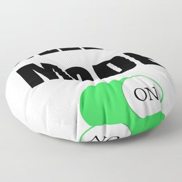 Napping Quote Funny Sleep Mode On Funny Nap Love Sleeping Raglan Baseball design Floor Pillow