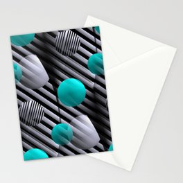 3D - abstraction -126- Stationery Cards