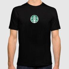 Starbucks Black Mens Fitted Tee MEDIUM