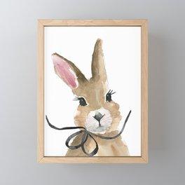 Bunny · Bunny Love · Baby Bunny · Bunny with Bow · Cute Bunny Framed Mini Art Print
