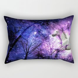 magical forest unicorn Rectangular Pillow