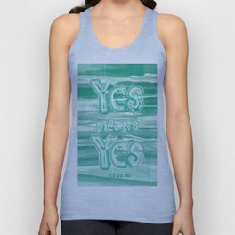 Yes means Yes - SB967 - Aqua Unisex Tank Top