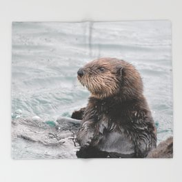 Otterly adorable Throw Blanket