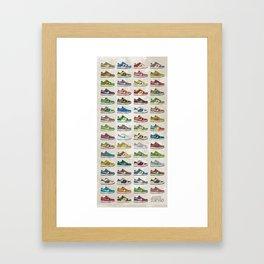 i love dunks Framed Art Print
