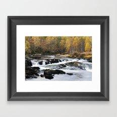 Autumn on the River Affric Framed Art Print