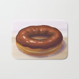 Chocolate Frosted Donut Bath Mat