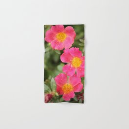 Neon Flowers Hand & Bath Towel