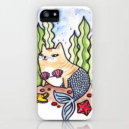 Seashell Mer-Kitty iPhone Case