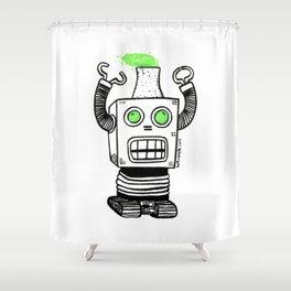 Robo-Meltdown Shower Curtain