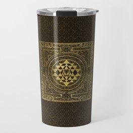 Gold Sri Yantra  / Sri Chakra Travel Mug