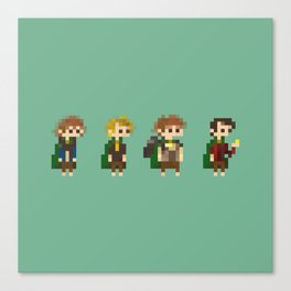 Frodo, Sam, Pippin and merry Canvas Print