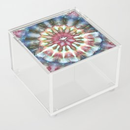 Kaleidoscope Burst Blue & Green Acrylic Box