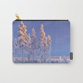 II - Snowy landscape in Finnish Lapland in winter at sunset Carry-All Pouch