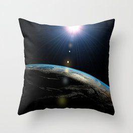 Planet Earth outer space Throw Pillow