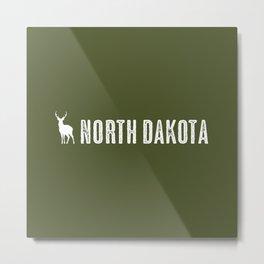 Deer: North Dakota Metal Print