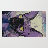 sphynx Area & Throw Rugs featuring Sphynx Painting by Michael Creese