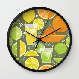 Drink Your Juice Repeat Wall Clock