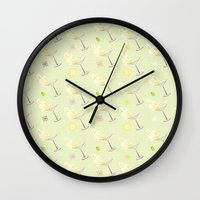 martini Wall Clocks featuring Martini by rusanovska