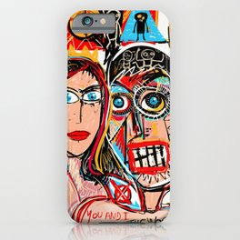 You and I Against the World Street Art Graffiti  iPhone Case